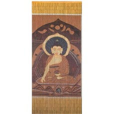 Bamboo Door Curtain Brown Buddha
