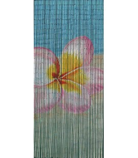 Bamboo Door Curtain Frangipani