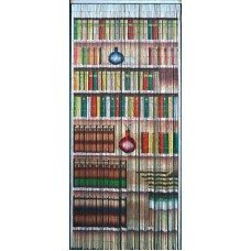 Bamboo Door Curtain Bookcase