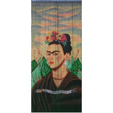 Bamboo Door Curtain Portrait of Frida
