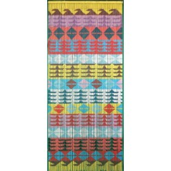 Bamboo Door Curtain Multi Geo