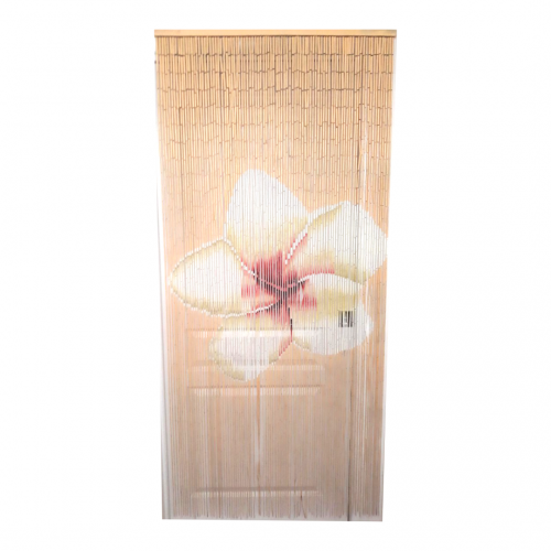 Bamboo Door Curtain Golden Frangipani