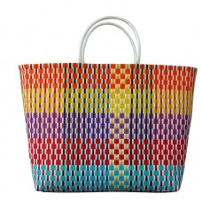 Carry All Large Woven Tote Bag - Lily Design